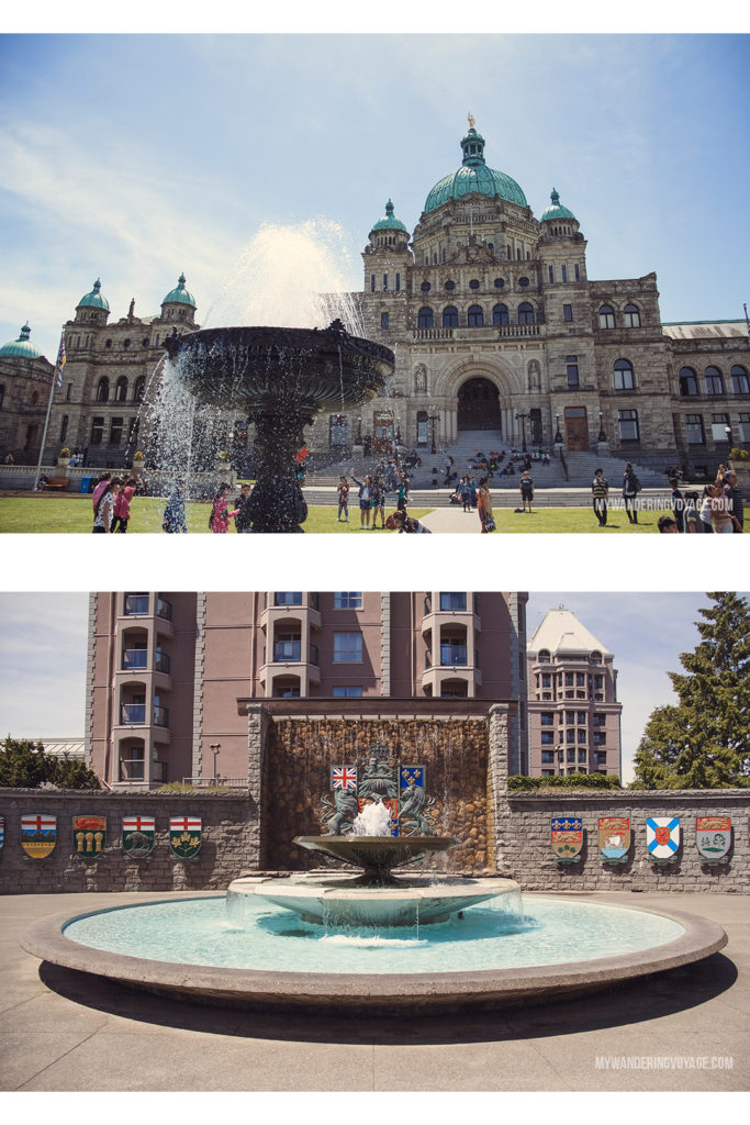BC Legislature | Victoria, BC, located on Vancouver Island, is a regal city ready for exploring. So whether you stay for a day or a week, there's always something charming to do in Victoria, BC. #VictoriaBC #BritishColumbia #Canada #exploreCanada #exploreBC