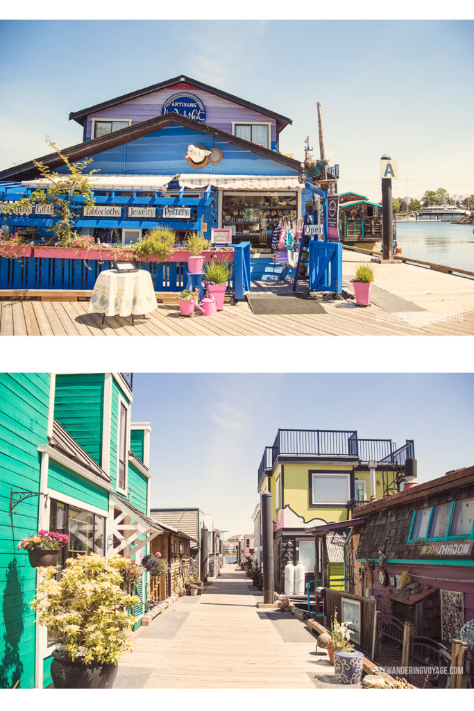 Fisherman's Wharf | Victoria, BC, located on Vancouver Island, is a regal city ready for exploring. So whether you stay for a day or a week, there's always something charming to do in Victoria, BC. #VictoriaBC #BritishColumbia #Canada #exploreCanada #exploreBC