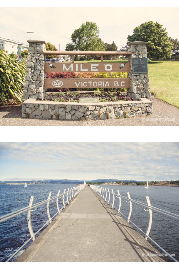 Mile 0 and the Breakwater | Victoria, BC, located on Vancouver Island, is a regal city ready for exploring. So whether you stay for a day or a week, there's always something charming to do in Victoria, BC. #VictoriaBC #BritishColumbia #Canada #exploreCanada #exploreBC