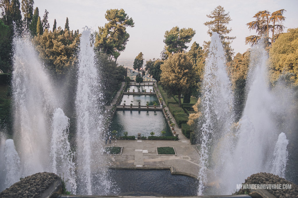 Tivoli Villa D'Este | You've got 10 days to explore Italy, so where do you start? This 10 day Italy itinerary will take you from Rome to Venice to Florence to Tuscany. Explore Italy in 10 days | My Wandering Voyage #travel blog #Italy #Rome #Venice #itinerary