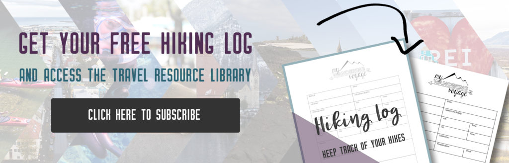 Get your free hiking log | My Wandering Voyage travel blog