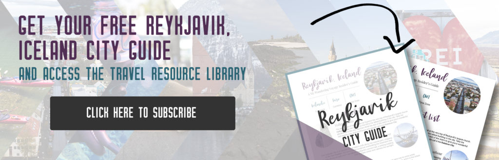 Get your free Reykjavik city guide, things to do in Reykjavik, Iceland | My Wandering Voyage travel blog
