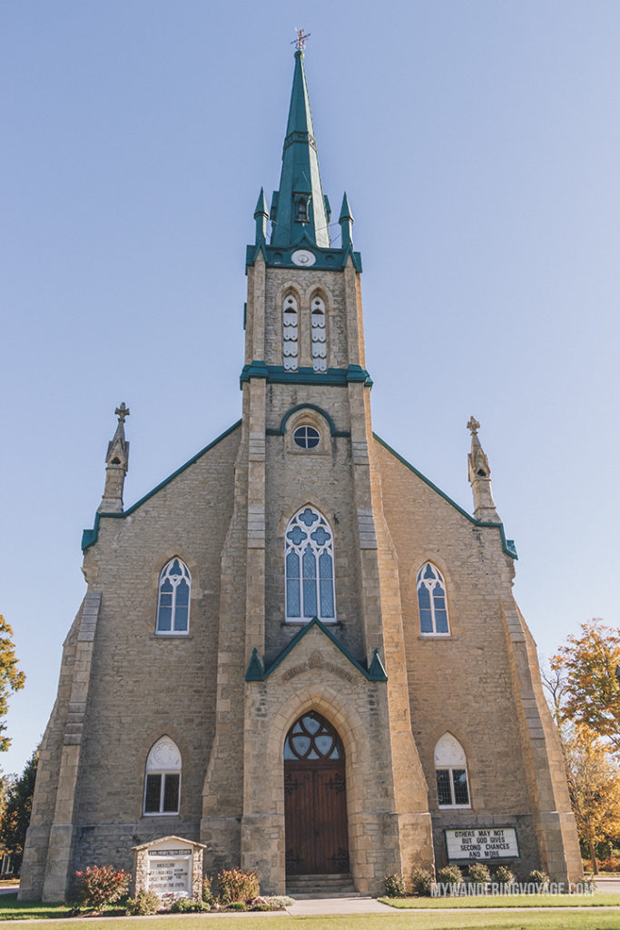 Elora Knox Church | The ultimate list of things to do in Elora, Ontario. Visit Elora for its small town charm, natural beauty and one-of-a-kind shops and restaurants | My Wandering Voyage travel blog