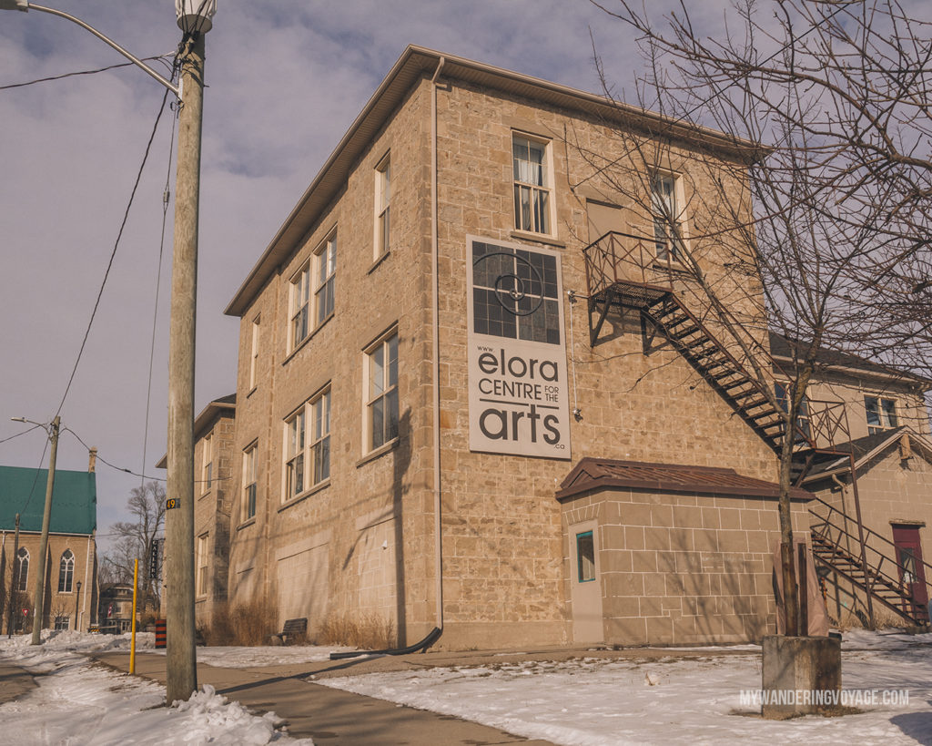 Elora Centre for the Arts | The ultimate list of things to do in Elora, Ontario. Visit Elora for its small town charm, natural beauty and one-of-a-kind shops and restaurants | My Wandering Voyage travel blog