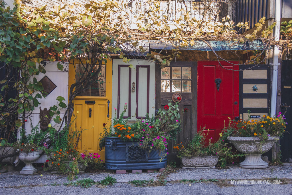 Elora Door | The ultimate list of things to do in Elora, Ontario. Visit Elora for its small town charm, natural beauty and one-of-a-kind shops and restaurants | My Wandering Voyage travel blog
