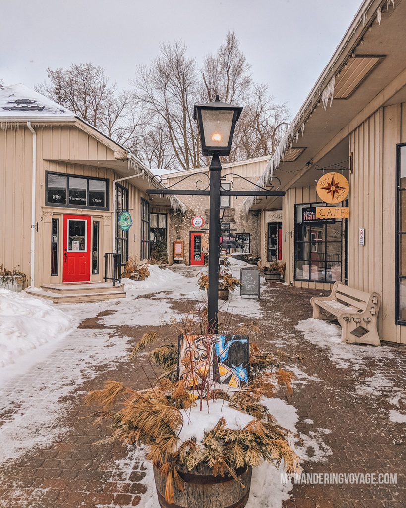 Elora Mews | The ultimate list of things to do in Elora, Ontario. Visit Elora for its small town charm, natural beauty and one-of-a-kind shops and restaurants | My Wandering Voyage travel blog
