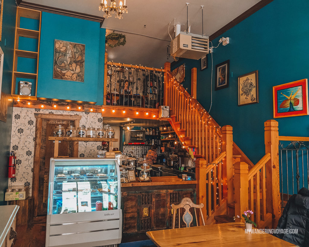 Elora Lost and Found Cafe | The ultimate list of things to do in Elora, Ontario. Visit Elora for its small town charm, natural beauty and one-of-a-kind shops and restaurants | My Wandering Voyage travel blog