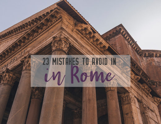 23 mistakes in Rome | With these 23 mistakes to avoid in Rome, Italy, you'll be a seasoned traveller before you even land in the airport. | My Wandering Voyage travel blog #Rome #traveltips #travel #Italy