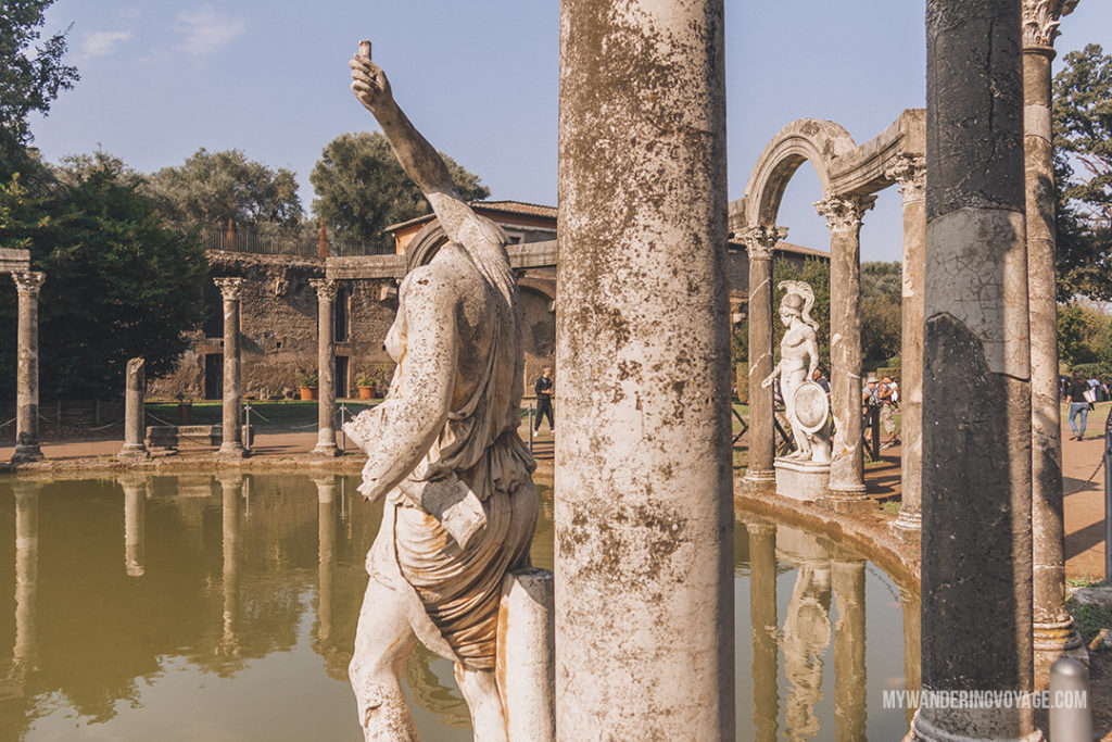 Villa Adriana canopus | Visit UNESCO World Heritage Sites Villa Adriana and Villa d'Este in a day trip to Tivoli, Italy, a mountainside town about 30 kilometres from Rome. | My Wandering Voyage travel blog #rome #italy #travel #UNESCO