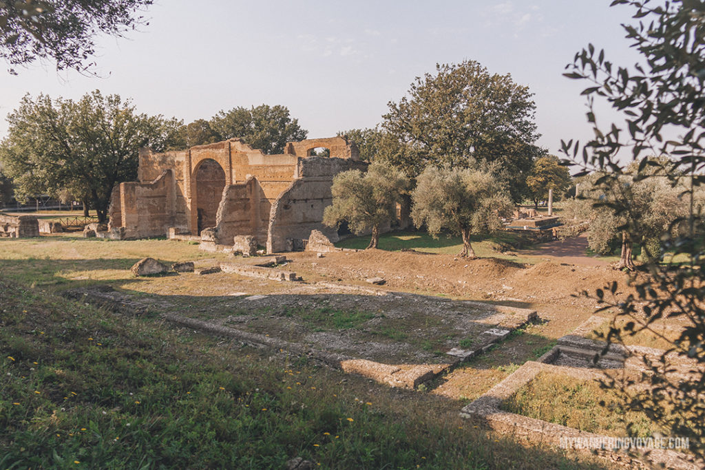 Villa Adriana ruins | Visit UNESCO World Heritage Sites Villa Adriana and Villa d'Este in a day trip to Tivoli, Italy, a mountainside town about 30 kilometres from Rome. | My Wandering Voyage travel blog #rome #italy #travel #UNESCO