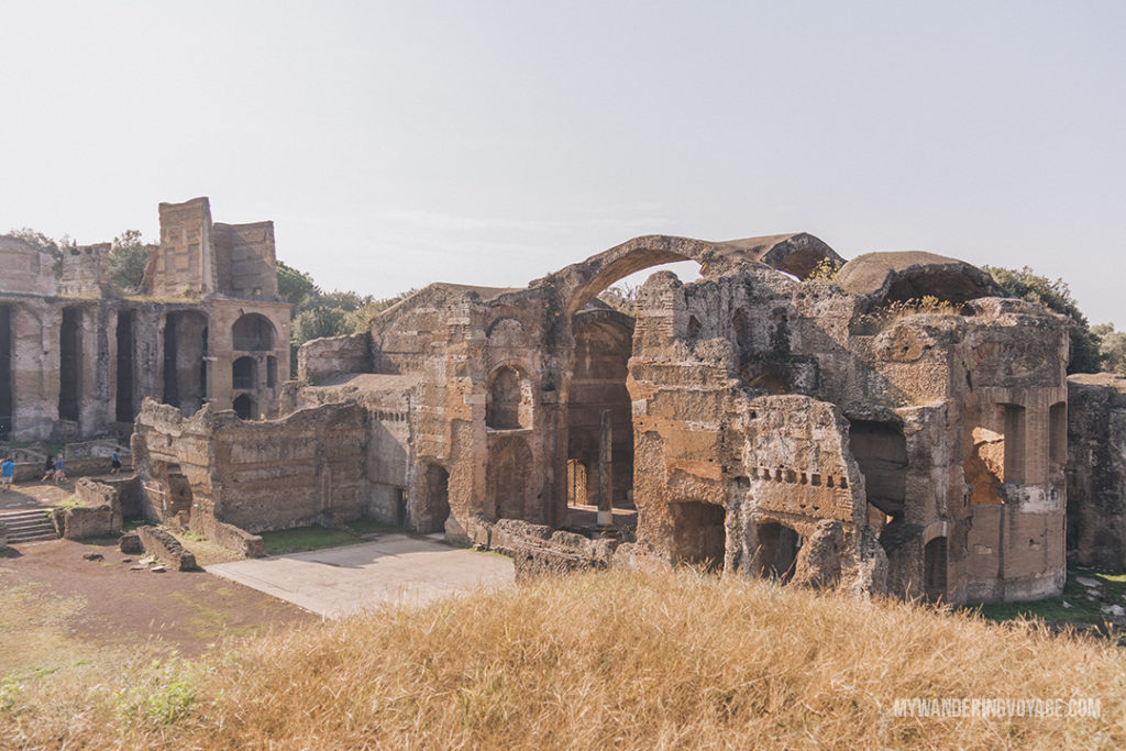 Villa Adriana thermal baths ruins | Visit UNESCO World Heritage Sites Villa Adriana and Villa d'Este in a day trip to Tivoli, Italy, a mountainside town about 30 kilometres from Rome. | My Wandering Voyage travel blog #rome #italy #travel #UNESCO
