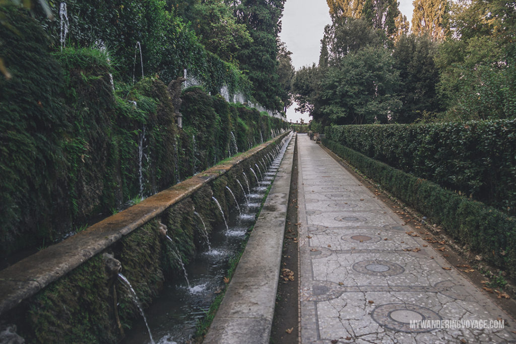 Villa d'Este The Hundred Fountains | Visit UNESCO World Heritage Sites Villa Adriana and Villa d'Este in a day trip to Tivoli, Italy, a mountainside town about 30 kilometres from Rome. | My Wandering Voyage travel blog #rome #italy #travel #UNESCO