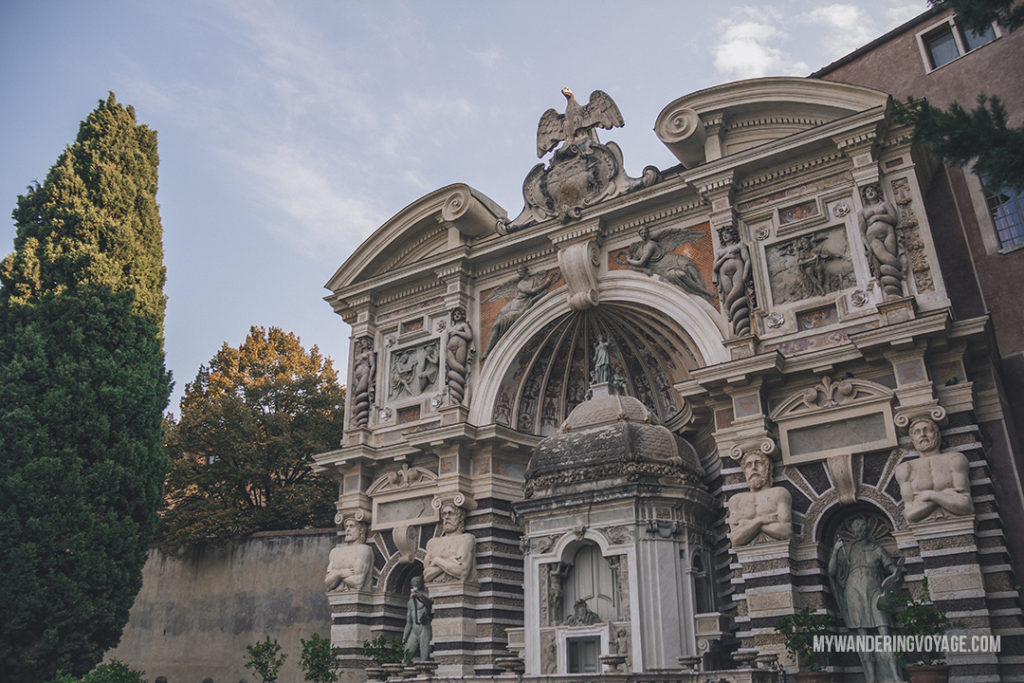 Villa d'Este Fountain of the Organ | Visit UNESCO World Heritage Sites Villa Adriana and Villa d'Este in a day trip to Tivoli, Italy, a mountainside town about 30 kilometres from Rome. | My Wandering Voyage travel blog #rome #italy #travel #UNESCO