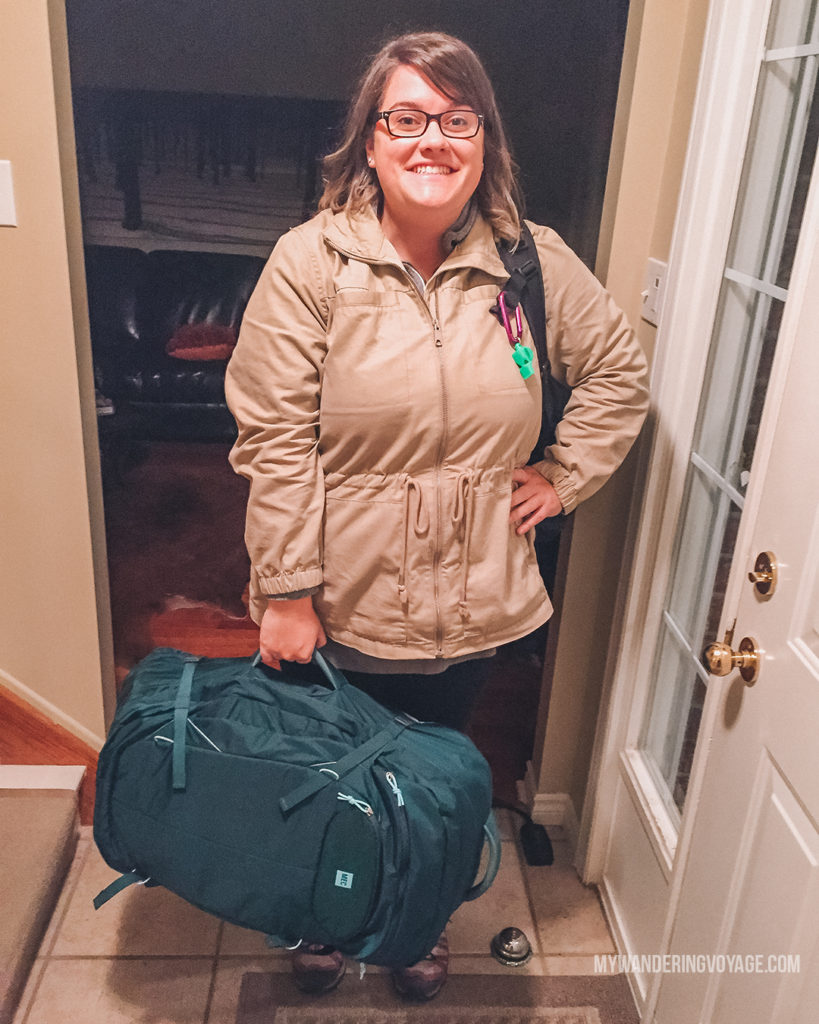 Packed and ready to go | What to pack for the Galapagos Islands. Find out what to bring, what to leave at home, when the best time to visit the Galapagos Islands is, and other tips in this Galapagos packing list. | My Wandering Voyage travel blog #travel #galapagos #galapagosislands #packing list
