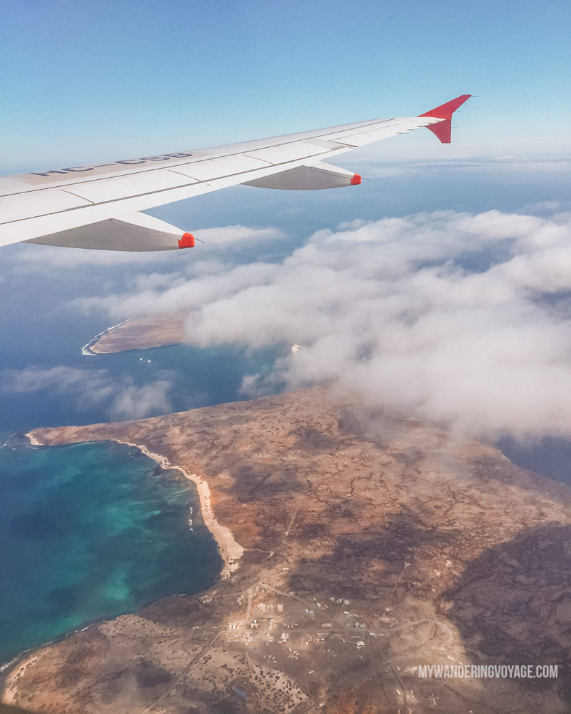 Galapagos Islands from above | A trip to the Galapagos Islands will be unforgettable, and with these Galapagos Islands travel tips, you'll be sure to have a worry-free trip from start to finish. | My Wandering Voyage travel blog #galapagos #galapagosislands #travel #traveltips #Ecuador #southamerica