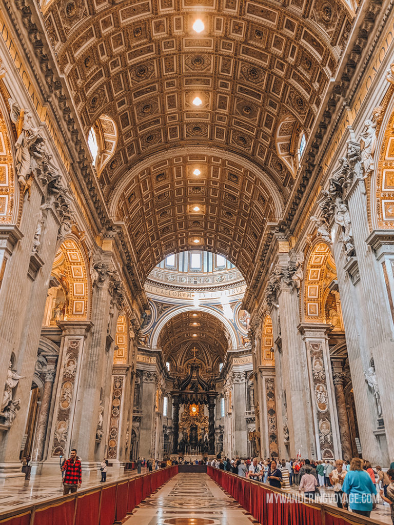Wide angle shot of inside the Vatican | With the powerful device in your pocket you can take incredible photos of your travels. Here is the ultimate guide to smartphone travel photography. | My Wandering Voyage travel blog #travel #photography #tips #travelphotography #smartphonephotography