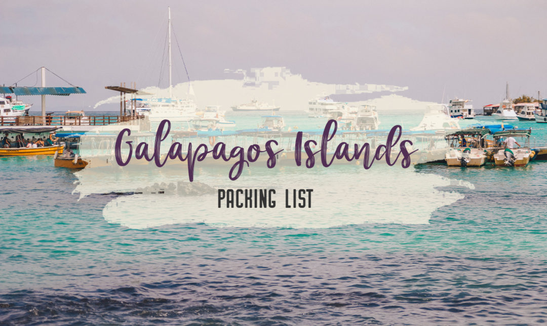 What to pack for the Galapagos Islands. Find out what to bring, what to leave at home, when the best time to visit the Galapagos Islands is, and other tips in this Galapagos packing list. | My Wandering Voyage travel blog #travel #galapagos #galapagosislands #packing list