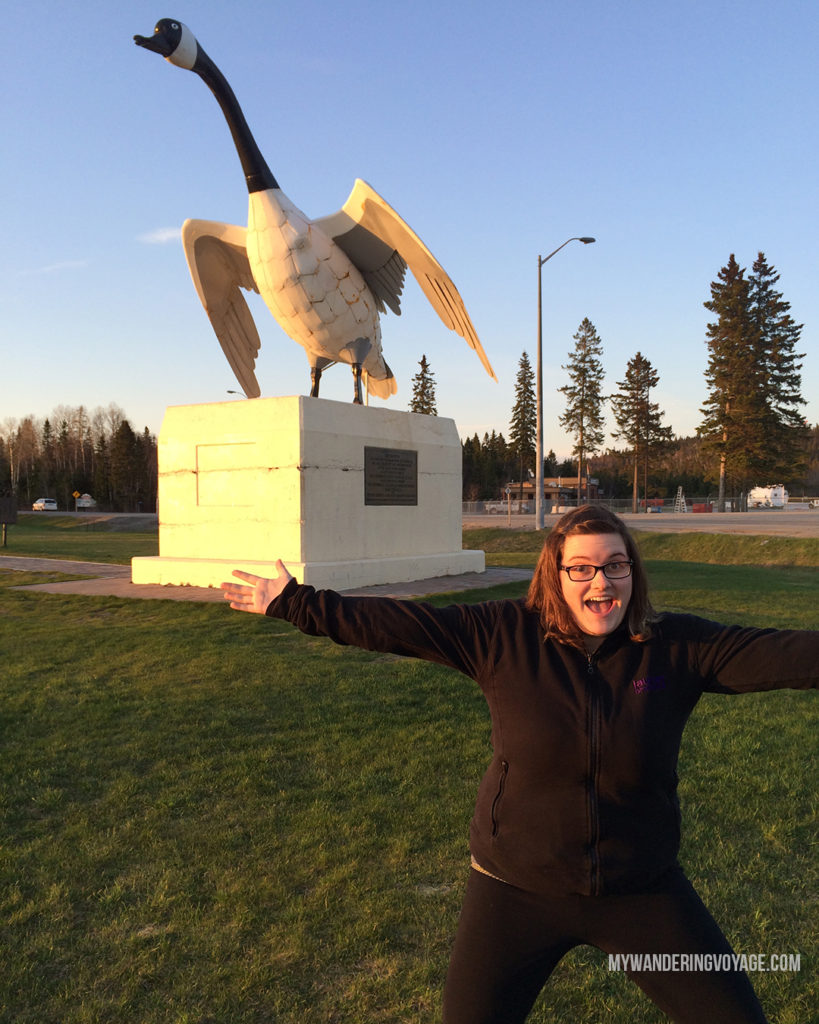 Giant Canada Goose roadside attraction, Wawa, Ontario | When road trip season hits, don't be caught unprepared. Make sure you have everything you need with this road trip packing list for a successful and enjoyable trip | My Wandering Voyage travel blog #travel #roadtrip #packing #USA #Canada