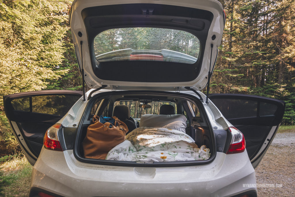 Sleep in your car | When road trip season hits, don't be caught unprepared. Make sure you have everything you need with this road trip packing list for a successful and enjoyable trip | My Wandering Voyage travel blog #travel #roadtrip #packing #USA #Canada