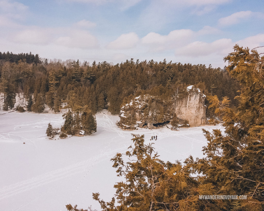 Rockwood Conservation Area, winter | Are you an explorer? A foodie? Or how about a beach bum? There's something for everyone in this list of fantastic day trips from Toronto | My Wandering Voyage travel blog #toronto #ontario #canada #ontariotravel #travel