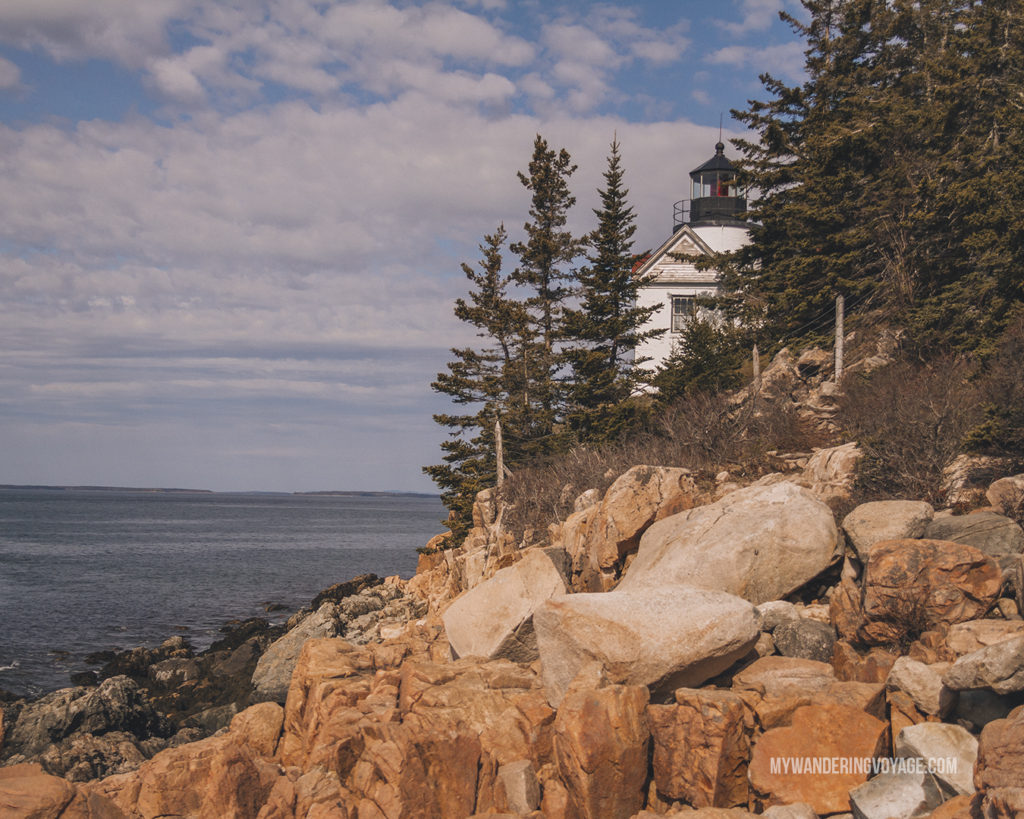 Bass Harbor Lighthouse   This New England road trip itinerary will take you on the scenic route from Boston to Portland, Mid Coast Maine and Acadia National Park.   My Wandering Voyage #Boston #Portland #Maine #travel