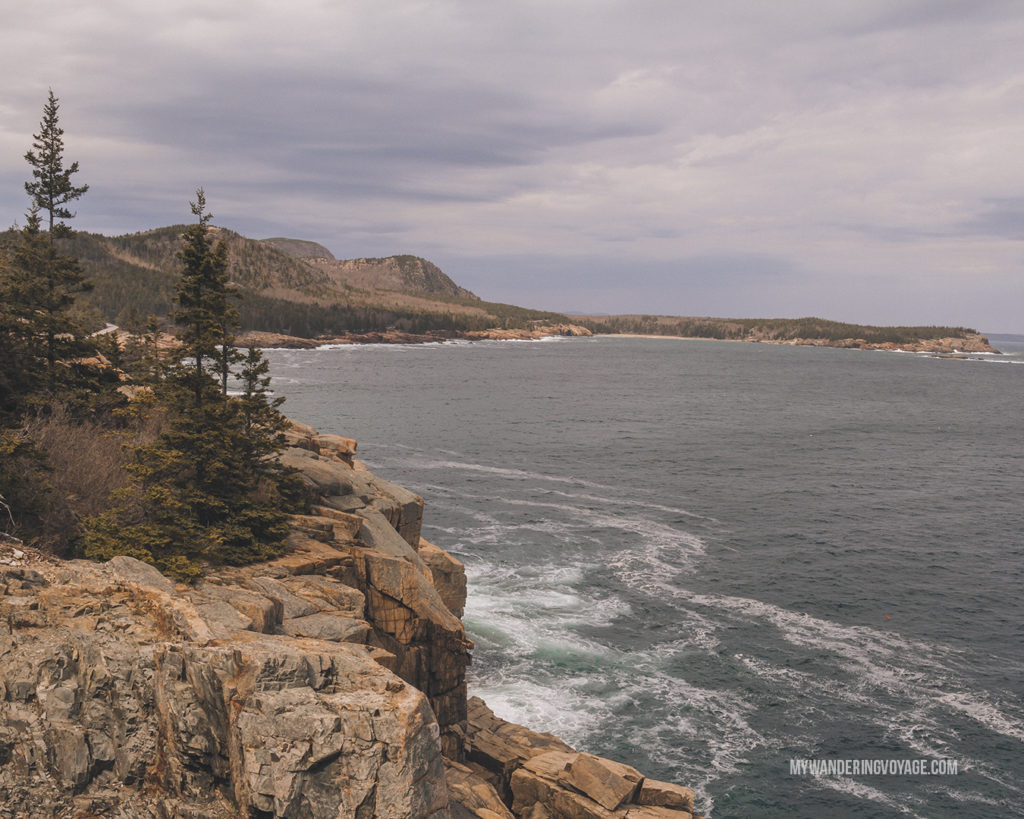 Otter Cliff Overlook   This New England road trip itinerary will take you on the scenic route from Boston to Portland, Mid Coast Maine and Acadia National Park.   My Wandering Voyage #Boston #Portland #Maine #travel