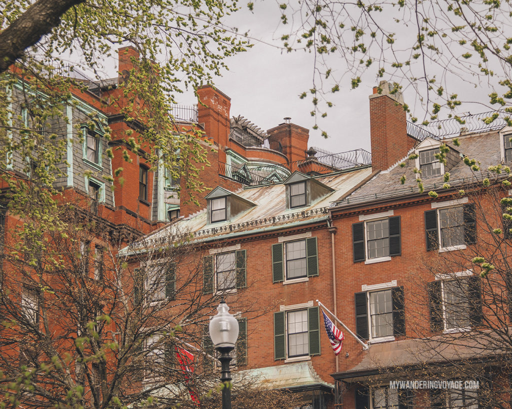 Boston row houses   This New England road trip itinerary will take you on the scenic route from Boston to Portland, Mid Coast Maine and Acadia National Park.   My Wandering Voyage #Boston #Portland #Maine #travel