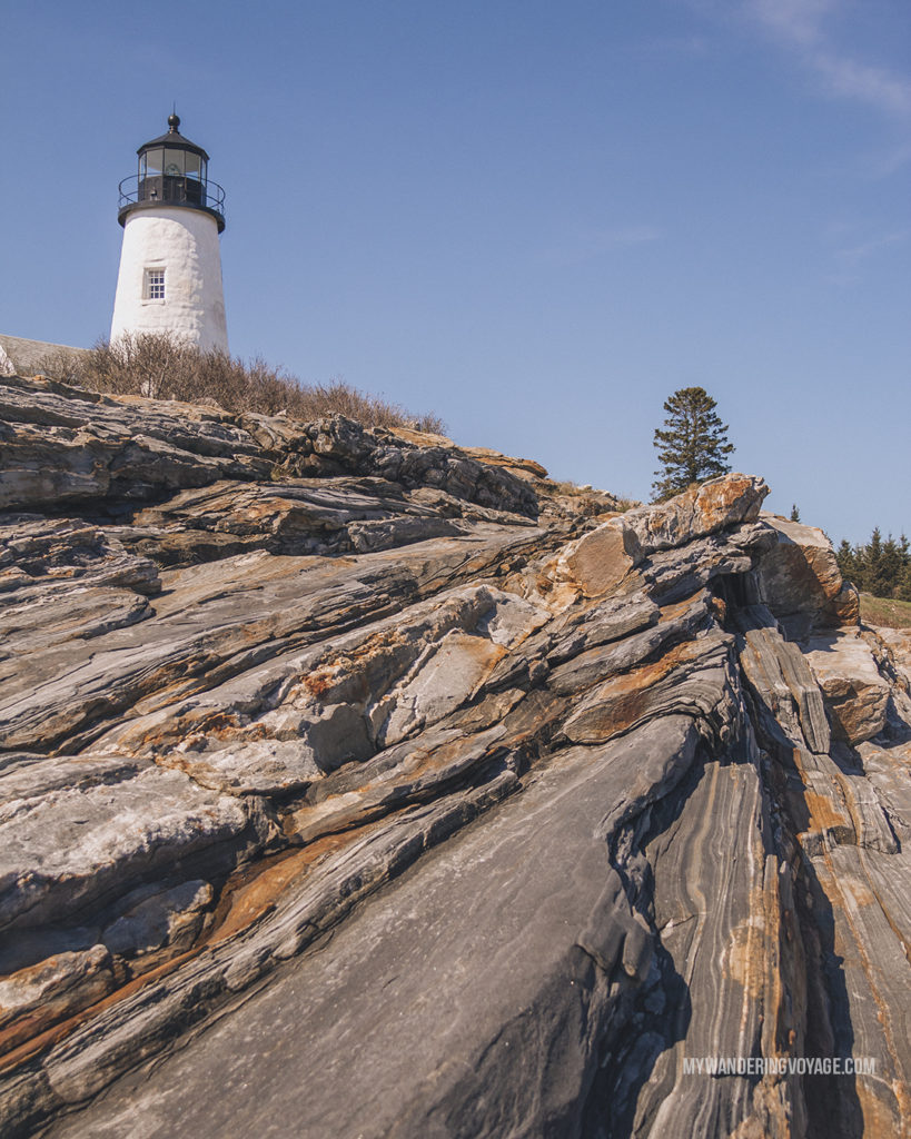 Pemaquid Lighthouse, Maine   This New England road trip itinerary will take you on the scenic route from Boston to Portland, Mid Coast Maine and Acadia National Park.   My Wandering Voyage #Boston #Portland #Maine #travel