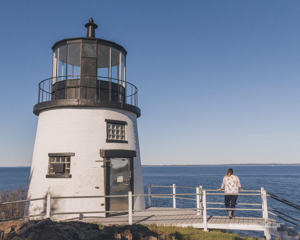 Owls Head Lighthouse   This New England road trip itinerary will take you on the scenic route from Boston to Portland, Mid Coast Maine and Acadia National Park.   My Wandering Voyage #Boston #Portland #Maine #travel