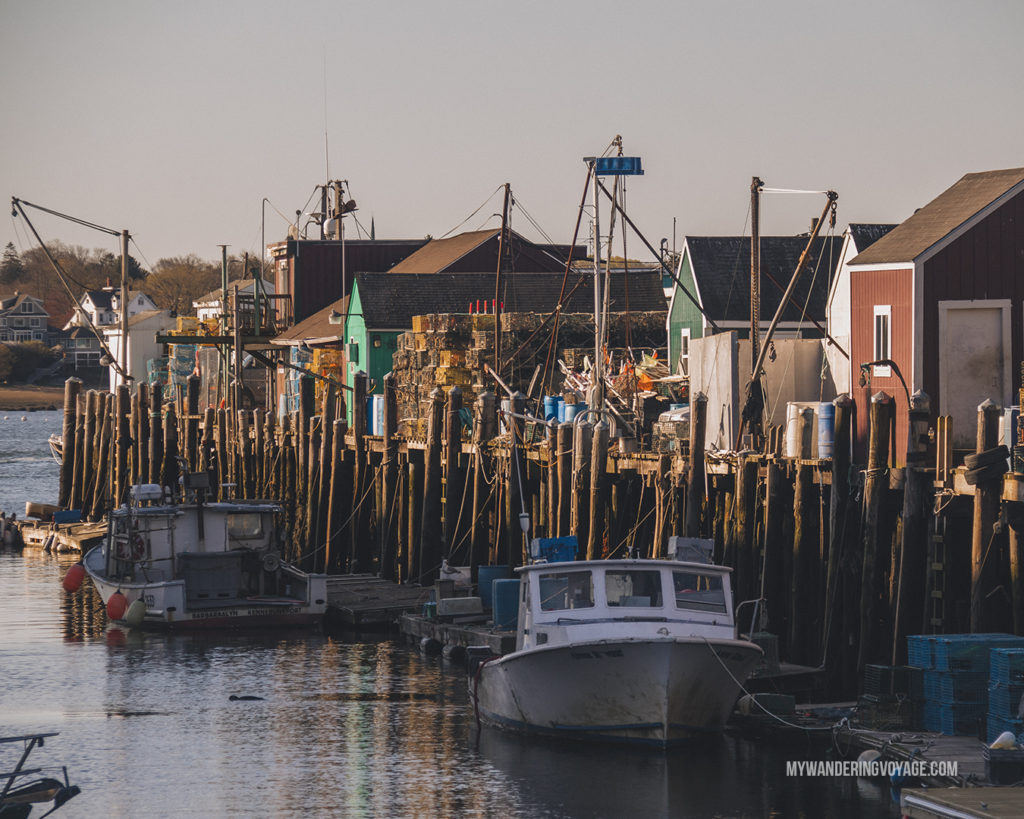 Portland Historic Waterfront District   This New England road trip itinerary will take you on the scenic route from Boston to Portland, Mid Coast Maine and Acadia National Park.   My Wandering Voyage #Boston #Portland #Maine #travel