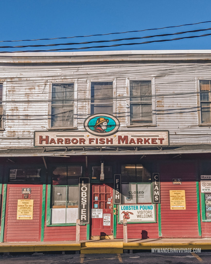 Portland Harbor Fish Market   This New England road trip itinerary will take you on the scenic route from Boston to Portland, Mid Coast Maine and Acadia National Park.   My Wandering Voyage #Boston #Portland #Maine #travel