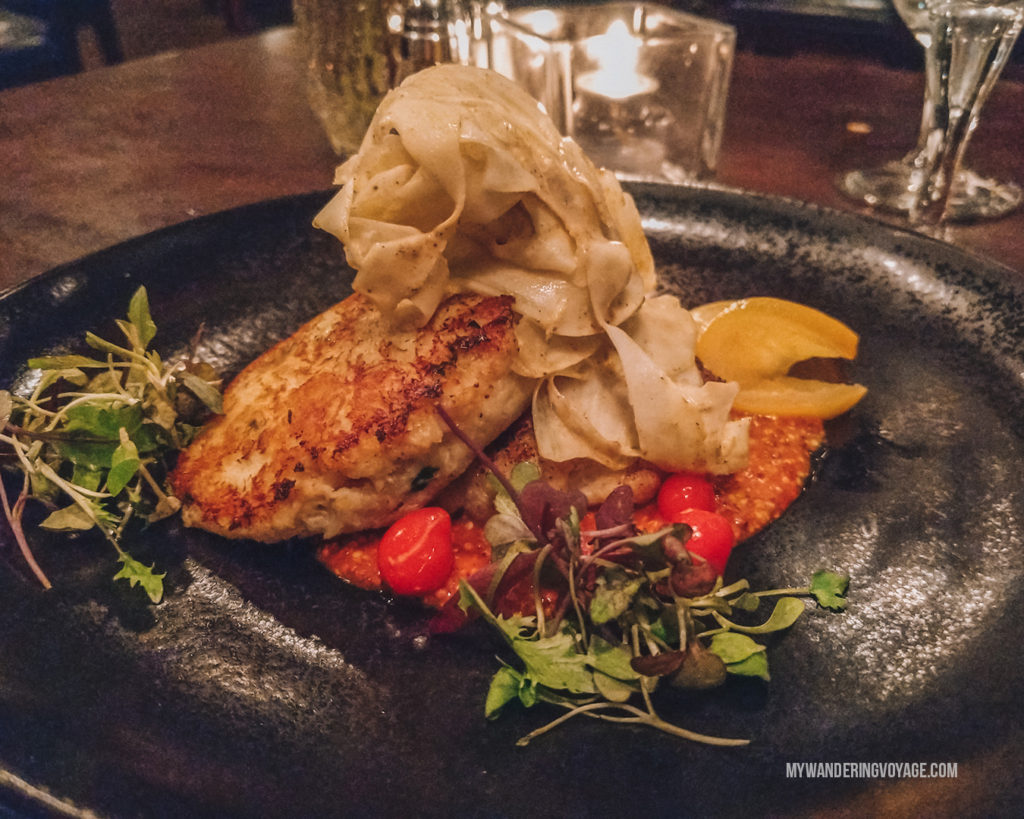 BlueFin crab cakes | Grab your best gal pals or significant other for the ultimate weekend getaway in Portland, Maine. Find where to stay, what to eat and things to do in this guide to Portland, Maine. | My Wandering Voyage travel blog #Portland #Maine #USA #travel