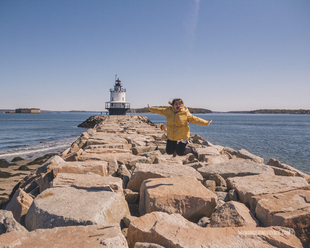 Spring Point Ledge Light | Grab your best gal pals or significant other for the ultimate weekend getaway in Portland, Maine. Find where to stay, what to eat and things to do in this guide to Portland, Maine. | My Wandering Voyage travel blog #Portland #Maine #USA #travel