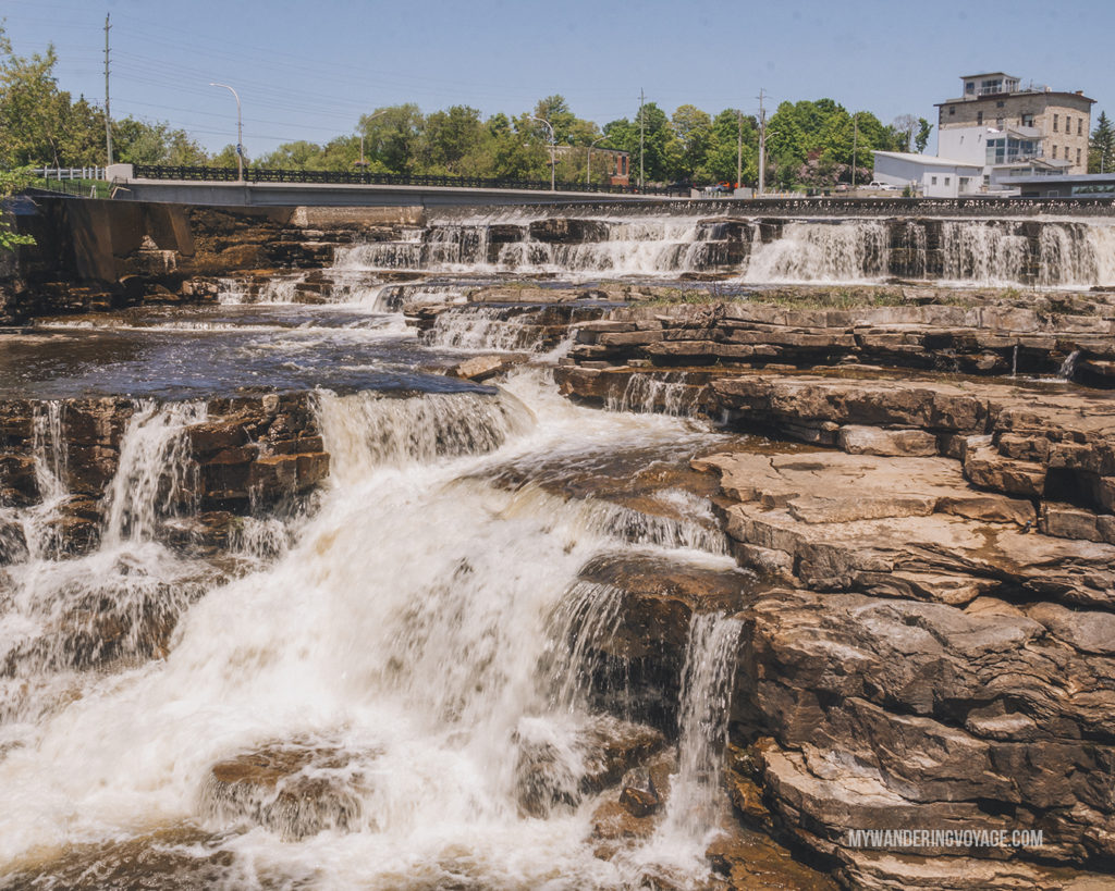 Mississippi River cascade waterfall, Almonte