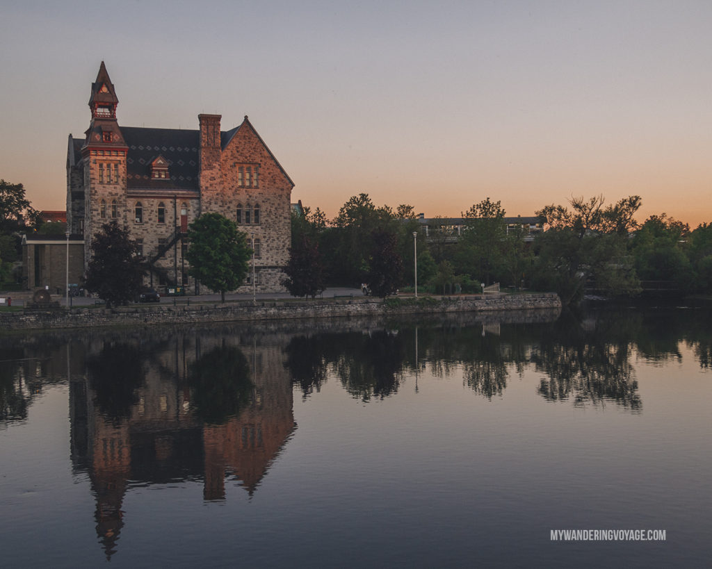 Almonte Old Town Hall at sunset