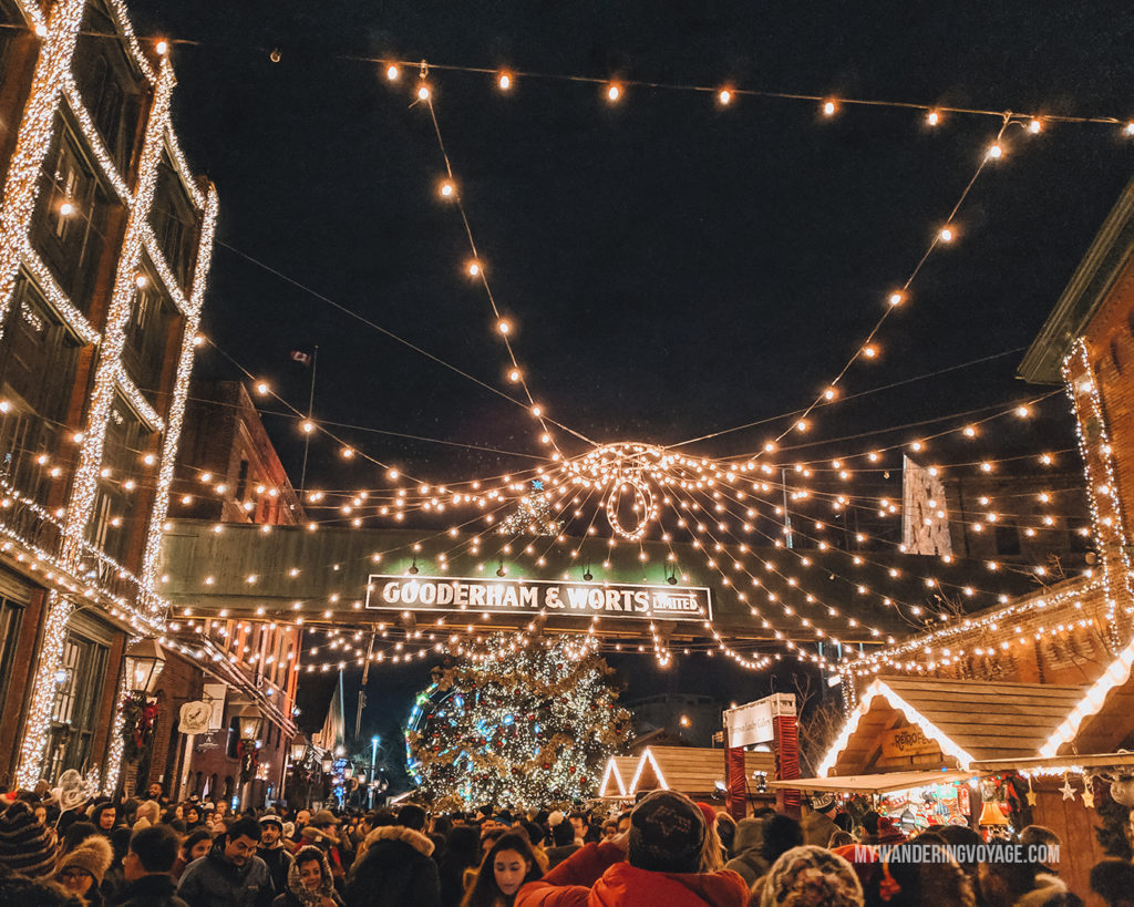 Distillery District in Toronto Christmas