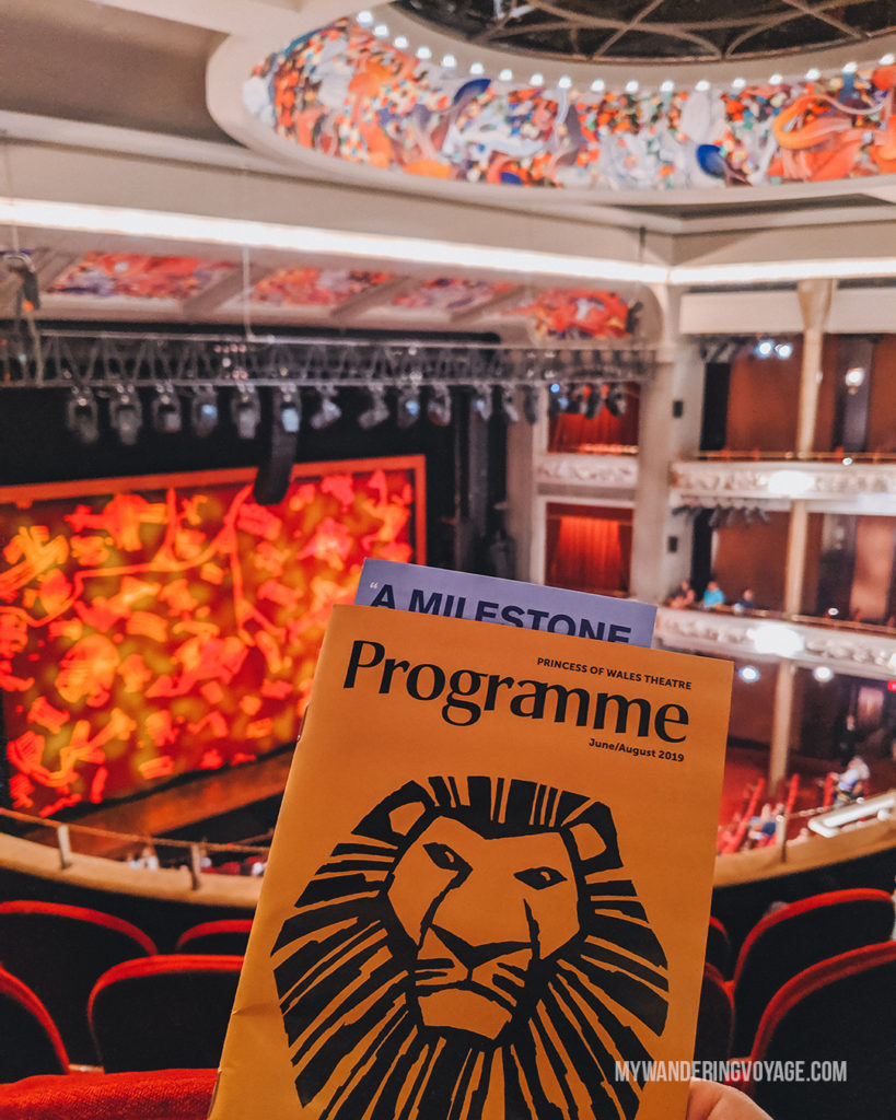 Lion King at Princess of Wales Theatre