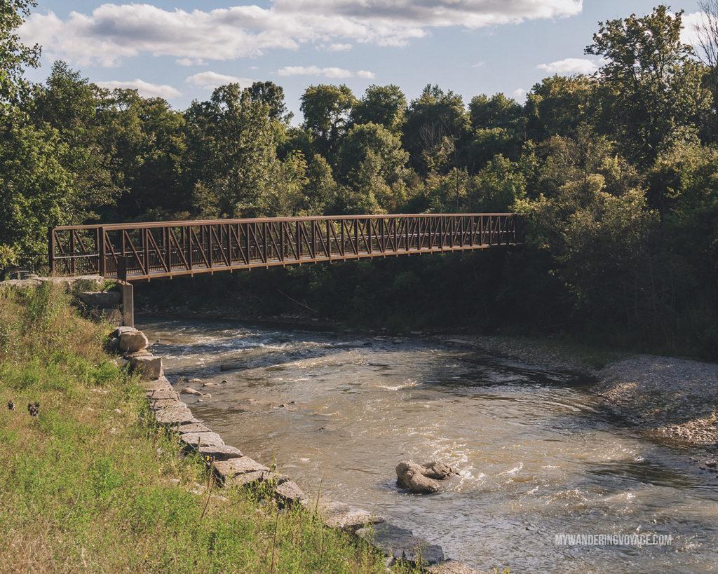 Barker's Bush pedestrian bridge over the Nith River, Paris, Ontario