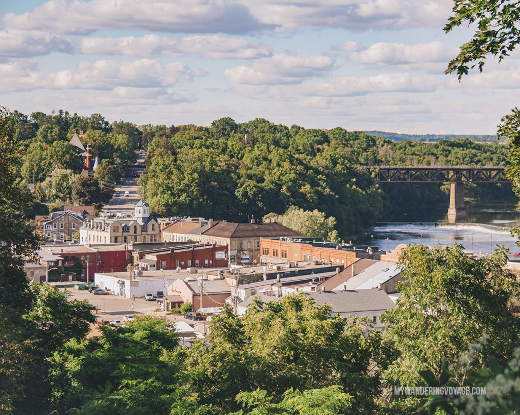 Downtown Paris, Ontario from the overlook