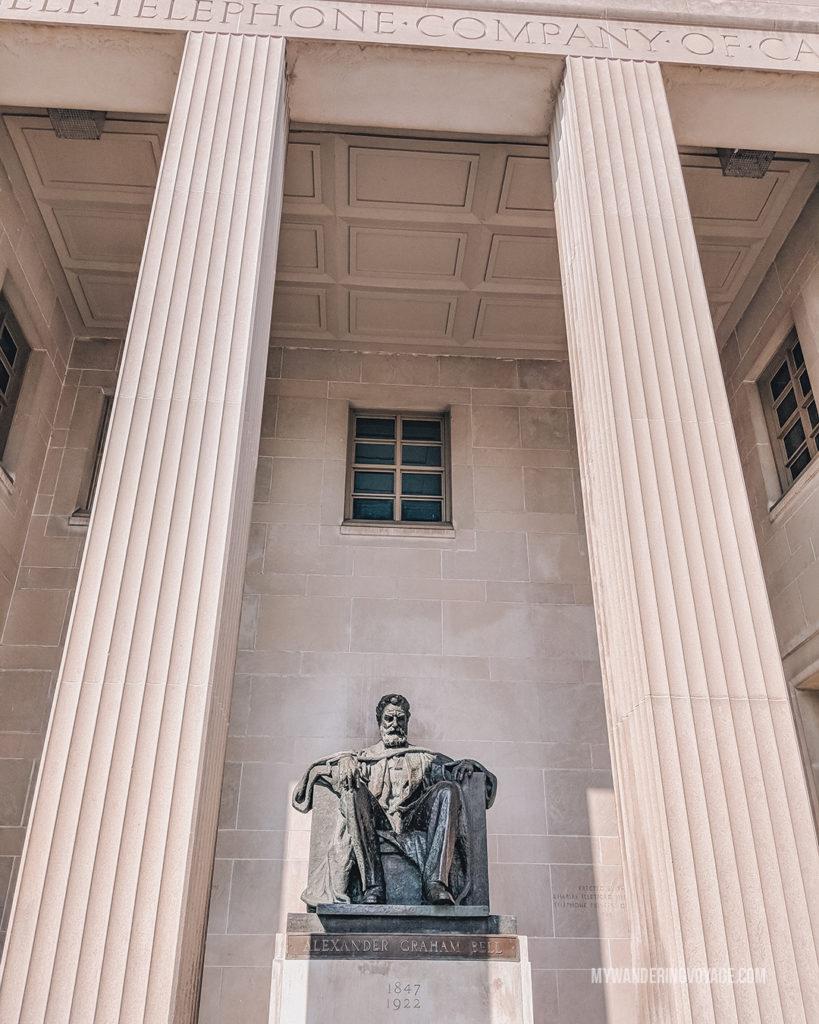 Alexander Graham Bell statue in Brantford