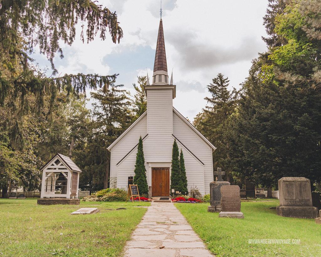 Mohawk Chapel outside