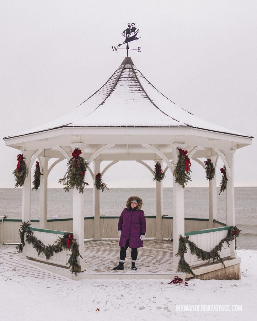 Queens Royal Park Gazebo Niagara on the Lake winter
