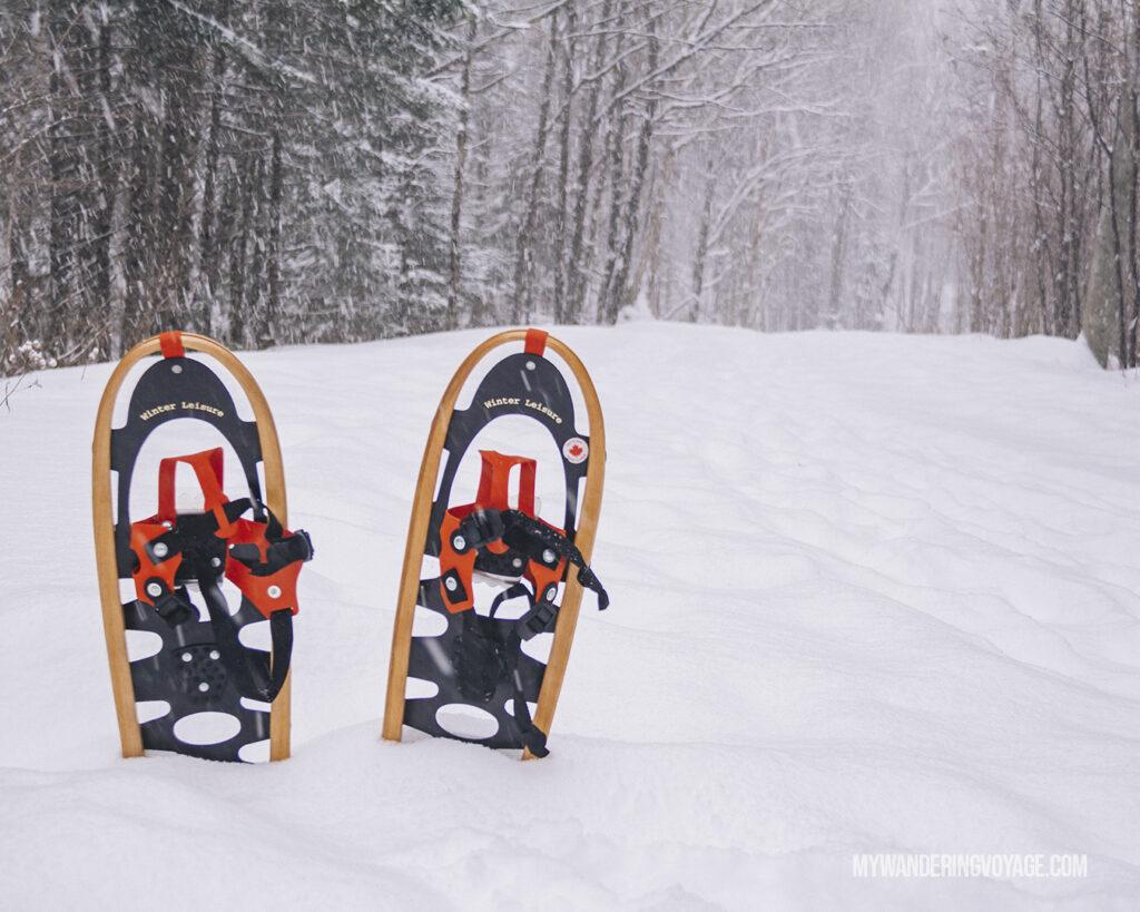Snowshoeing in Muskoka