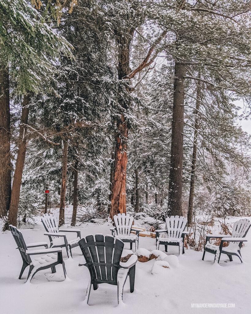 Mukoka airbnb in winter