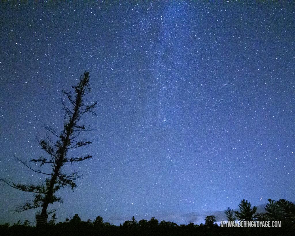 Torrance Barrens Dark Sky Preserve at night