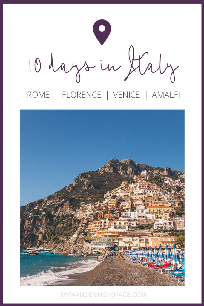 You've got 10 days to explore Italy, so where do you start? This 10 day Italy itinerary will take you from Rome to Venice to Florence to Tuscany. Explore Italy in 10 days | My Wandering Voyage #travel blog #Italy #Rome #Venice #itinerary