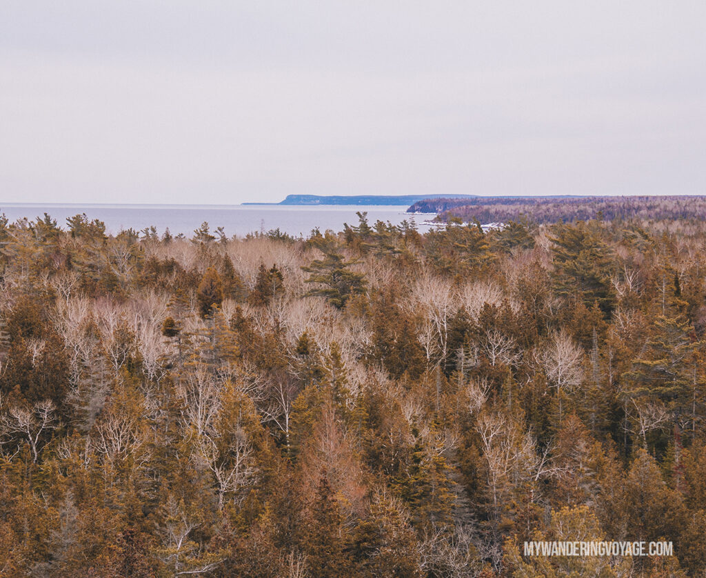 View of Bruce Peninsula National Park | Hiking the Bruce Trail: 14 side trails to explore | My Wandering Voyage travel blog