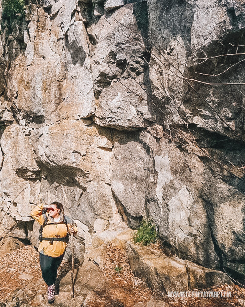 Women hiking Devil's Glen | Hiking the Bruce Trail: 14 side trails to explore | My Wandering Voyage travel blog