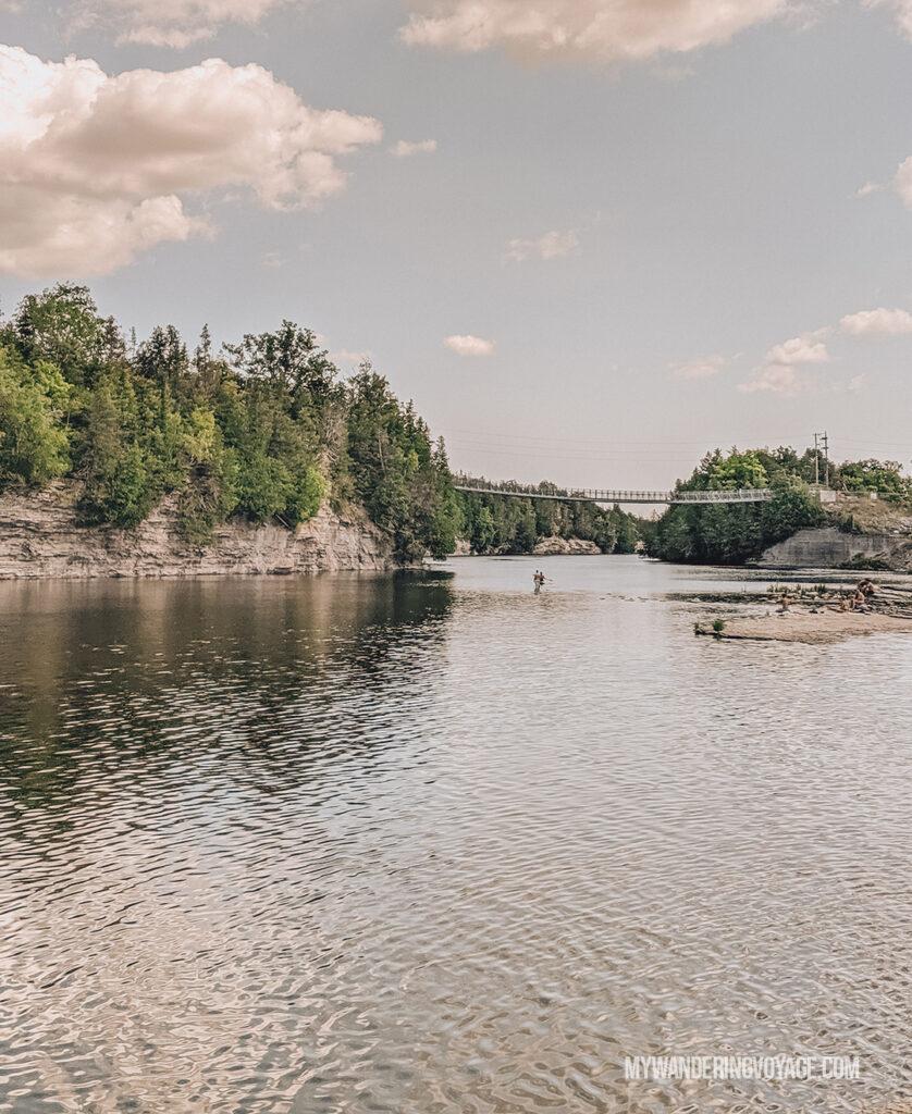 Ferris Provincial Park suspension bridge | Best scenic bridges in Ontario
