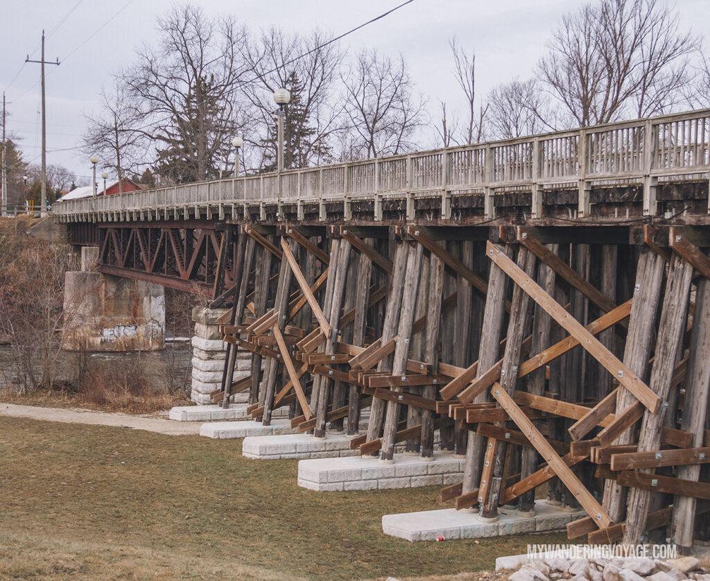 historic trestle bridge in Thornbury | Best scenic bridges in Ontario